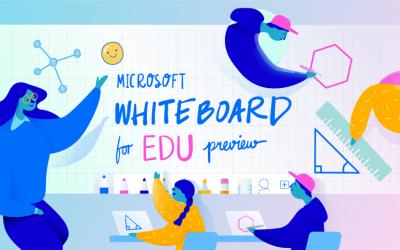Aumente la participación de los estudiantes con Microsoft Whiteboard para Educación y tecnología de proyección inalámbrica