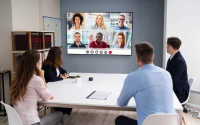 Cómo Conducir una Conferencia Usando BYOM en una Sala de Reuniones